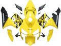 Fairings Honda CBR 600 RR Yellow & Black Flame Racing (2003-2004)