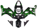 Fairings Suzuki GSXR 1000 Black & Green Flame Racing  (2000-2002)