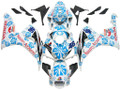 Fairings Honda CBR 1000 RR White & Blue Floral Racing (2006-2007)