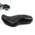 Leather Driver Passenger 1 Piece Seat Saddle Two up Harley FLHR Road King (1997-2006) Black