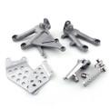 Front Footpegs Footrest Brackets Set Honda CBR1000RR (04-07) 50600-MEL-D20, 50607-MEL-000, 50660-MEL-305, 50665-MEL-305, 50700-MEL-000, 50707-MCJ-000