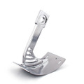 Side Mount License Plate Bracket Yamaha Warrior (02-05) VMax (All Years) Curved Silver