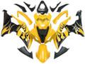 2008-2016 Fairings Yamaha YZF-R6 Yellow & Black Flame R6 Racing