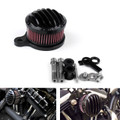 Air Cleaner Finned Intake Filter System Kit Harley Sportster XL883 XL1200
