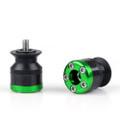 Spools 10MM Carbon Fiber Swingarm Sliders Kawasaki KTM, Green