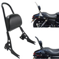 Sissy Bar Luggage Rack Seat Backrest Pad For 2015-18 Street 500 750 XG500 XG750 Black