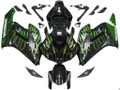 Fairings Honda CBR 1000 RR Black & Green Flame Racing (2004-2005)