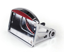 """Side Mount Chrome License Plate LED Tail brake light For Harley Davidson and Custom Bikes with 1"""" Rear Axle"""