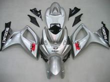 Fairings Suzuki GSXR 600 750 Silver & Black GSXR Racing  (2006-2007)