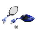 8MM 10MM Universal CNC Machined Mirrors Diamond Flame Blue