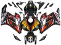 Fairings Honda CBR 1000 RR Black & Red Flame Shark Racing (2004-2005)