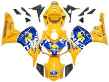 Fairings Honda CBR 1000 RR Yellow Blue Camel Racing (2006-2007)