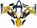 Fairings Suzuki GSXR 600 750 Yellow Blue Corona GSXR Racing  (2004-2005)
