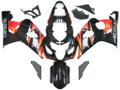 Fairings Suzuki GSXR 600 750 Black Orange GSXR Racing  (2004-2005)