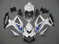 Fairings Suzuki GSXR 600 750 Silver White GSXR Racing  (2008-2009-2010)