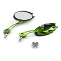 8MM 10MM Universal CNC Machined Mirrors Oval Flame Green