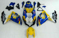 Fairings Suzuki GSXR 600 750 Yellow Blue Alstare Corona Racing  (2008-2009-2010)