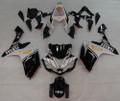 Fairings Yamaha YZF-R1 Black White R1 Racing (2007-2008)