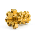 Universal 8mm Anodized Billet Aluminum Clutch Cable Adjuster Set, Gold