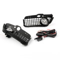 New Bumper Grille Grill With Driving Fog Lamp Light VW Golf MK3 (1992-1997) Black