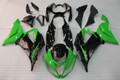 Fairings Plastics Kawasaki ZX6R 636 Green Black Ninja Racing (2013-2016)