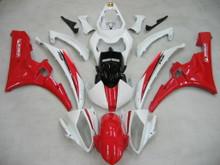 Fairings Yamaha YZF-R6 White Red Michelin  R6 Racing (2006-2007)