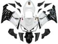 Fairings Kawasaki ZX6R 636 White Black elf ZX6R Racing  (2005-2006)