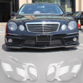 Pair Front Headlight Headlamp Clear Lens Plastic Cover Benz E-Class 2007-2009