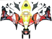 Fairings Honda CBR 600 RR Yellow Black Valentino Rossi Racing (2007-2008)