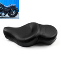 Leather Driver Passenger 1 Piece Seat Saddle Two up Harley Davidson HD XL Sportster XL883N XL1200N (2004+) Black