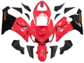 Fairings Kawasaki ZX6R 636 Red Black Ninja Racing  (2005-2006)