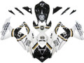 Fairings Suzuki GSXR 600 750 White Black Lucky Strike Racing  (2008-2009-2010)