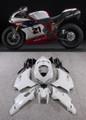 Fairings Ducati 1098 1198 848 White Red No.21 1098 Racing (2007-2011)