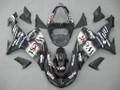 Fairings Kawasaki ZX 10R Black White West Racing (2006-2007)