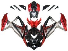 Fairings Suzuki GSXR 600 750 Black Red Silver Racing  (2008-2009-2010)
