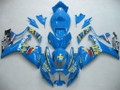Fairings Suzuki GSXR 600 750 Blue Rizla Racing  (2006-2007)
