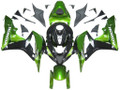 Fairings Honda CBR 600 RR Metallic Black & Green Honda Racing (2007-2008)