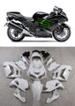 Fairings Plastics Kawasaki ZX14R Ninja Black Green Racing (2012-2015)