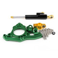 Motorcycle Steering Damper Stabilizer Kawasaki Z800 (2013-2015) Green