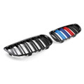 Kidney Grille Grill Double Slots for 3-Series E92 Coupe E93 Convertible 07-10 M3 E90/E92/E93 07-10 M Color Black