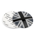 Wheel Center Hub Cap Emblem Badge decal Black Union Jack UK Flag Mini Cooper