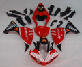 Fairings Yamaha YZF-R1 Red Black Santander Bank  R1 Racing (2009-2012)