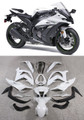 Fairings Plastics Kawasaki ZX10R Ninja White Black ZX10R Racing (2011-2014)