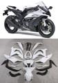 Fairings Plastics Kawasaki ZX10R Ninja White Black ZX10R Racing (2011-2014)