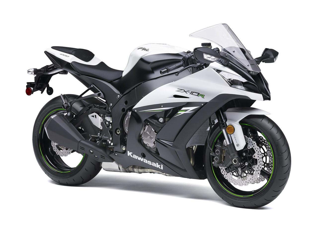 Fairings Plastics Kawasaki Zx10r Ninja White Black Zx10r Racing