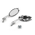 8MM 10MM Universal CNC Machined Mirrors Oval Flame White