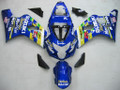 Fairings Suzuki GSXR 600 750 Blue Movistar GSXR Racing  (2004-2005)