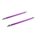 20cm 200mm Adjustable front rear bumper lip splitter strut brace rod support bars kit, Purple
