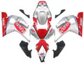 Fairings Yamaha YZF-R6 Silver Red Fortuna R6 Racing (1998-2002)