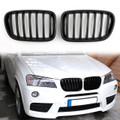 Kidney Grille BMW F25 X3 Pre-facelift Sport Kidney (2011-2013) Matte Black (Grille-103-Black)